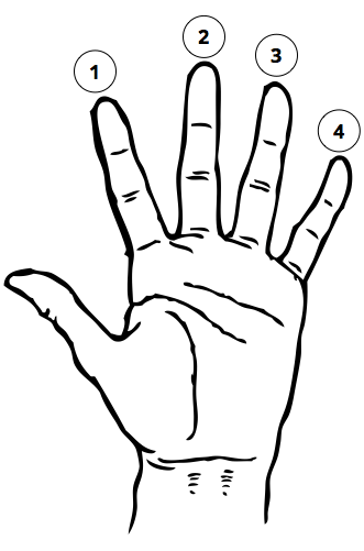 finger placement diagram