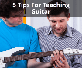 teaching guitar